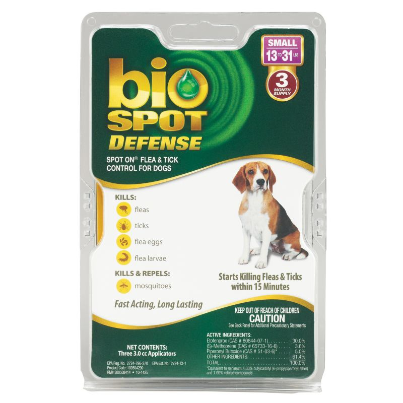 BioSpot Defense for Dogs 3 Month 13-31lbs