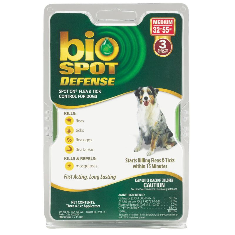 BioSpot Defense for Dogs 3 Month 32-55lbs