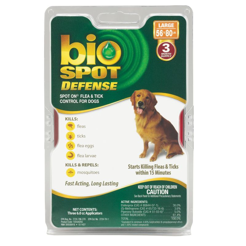 BioSpot Defense for Dogs 3 Month 56-80lbs