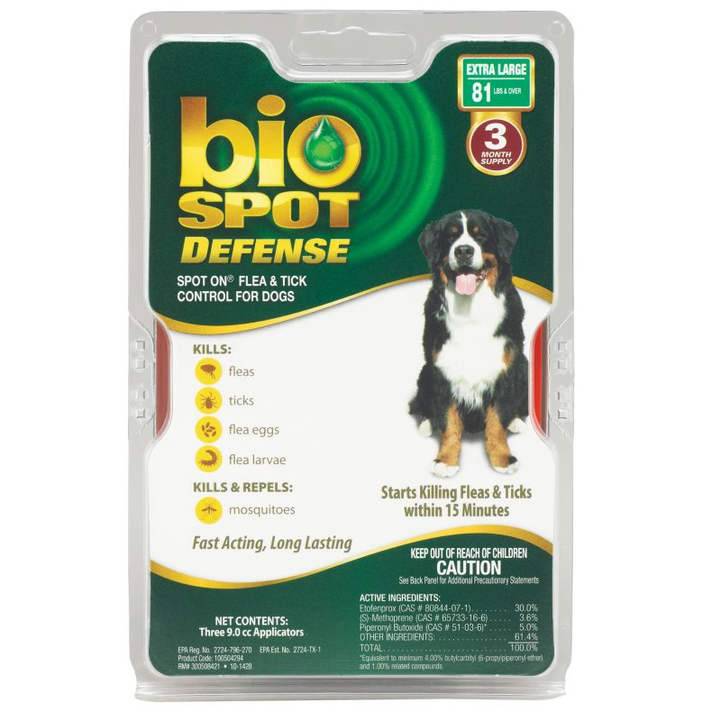 BioSpot Defense for Dogs 3 Month 81lbs and Over
