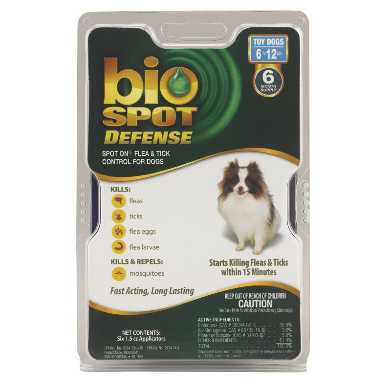 BioSpot Defense for Dogs 6 Month 6-12lbs
