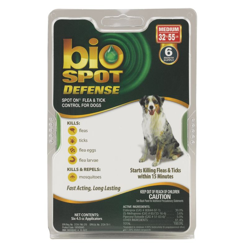 BioSpot Defense for Dogs 6 Month 32-55lbs