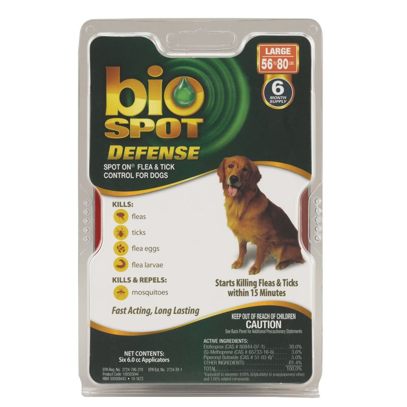 BioSpot Defense for Dogs 6 Month 56-80lbs