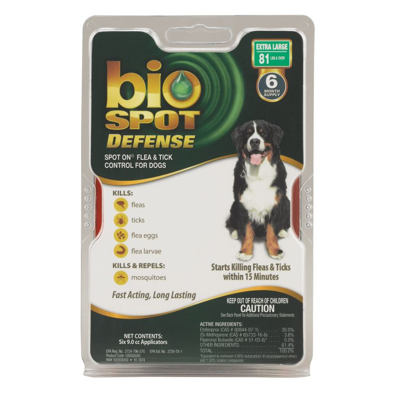 BioSpot Defense for Dogs 6 Month 81lbs and Over