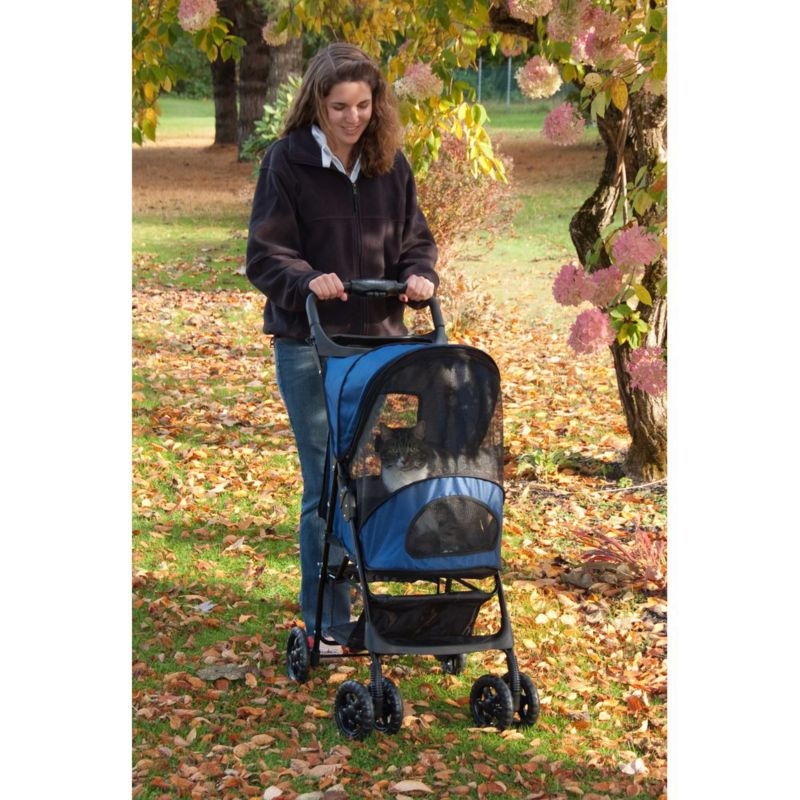 Happy Trails Pet Stroller Cobalt Blue