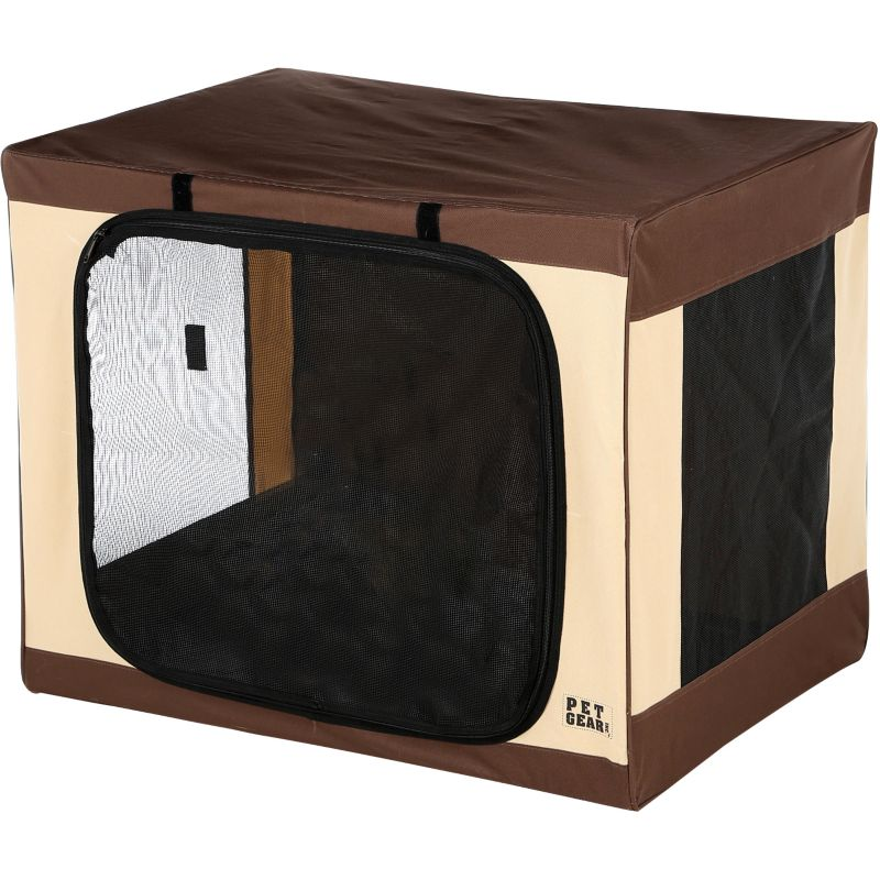Travel-Lite Soft Dog Crate 27 Inch Sahara