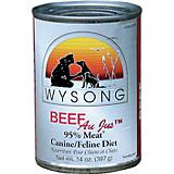 Wysong Canned Diets Beef Au Jus Pet Food 12 Pack
