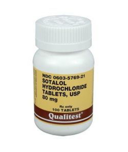 Sotalol is a drug used to treat rapid heart rates in dogs and cats. Rapid heart rates may lead to arrhythmias causing the heart to pump inefficiently. If the heart isn't pumping blood properly, oxygenated blood may not be able to reach different areas of the body. Sotalol is used primarily to prevent dysrhythmias. Potential adverse effects: shortness of breath fatigue dizziness nausea vomiting Too much sotalol may result in a very slow heart rate, low blood pressure, low blood sugars, and congestive heart failure. It is important to give your pet this medication exactly as prescribed and to not discontinue the drug without consulting with your pet's veterinarian. There are many drugs that can interact with sotalol. Inform your pet's veterinarian about all medications given to your pet including non-prescription products and supplements. Below are a few medications that interact with sotalol: cisapride digoxin verapamil, diltiazem antacids amiodarone If you miss giving your pet the dos