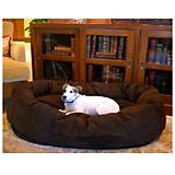Majestic Suede Bagel Dog Bed