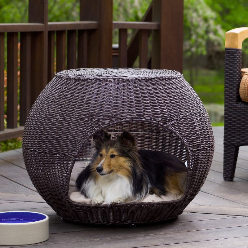 The Refined Canine Indoor Outdoor Igloo Dog Bed