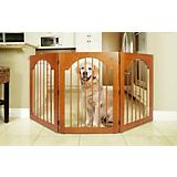 Universal Free Standing Wood Pet Gate