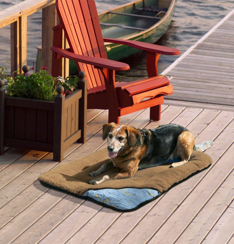Kurgo Wander Bed Traveling Dog Bed Medium Brown