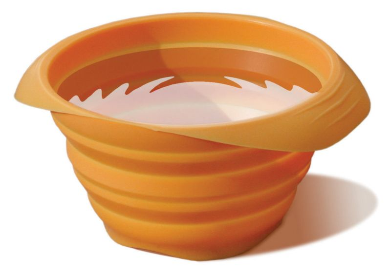 Kurgo Collaps-a-Bowl Dog Travel Bowl Orange