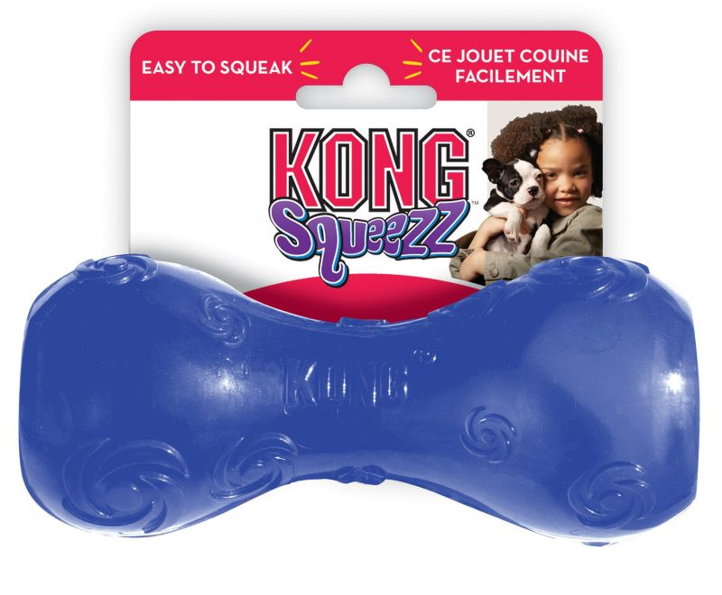 Kong Squeezz Dumbbell Dog Toy Medium