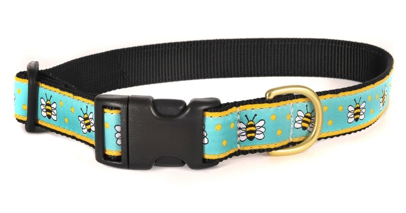 Up Country Bee Adjustable Dog Collar X-Small