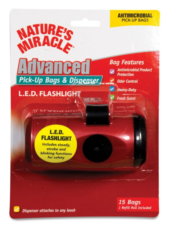 Flashlight Dog Pick-Up Waste Bag Dispenser