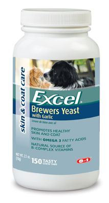 Excel Brewers Yeast  with Garlic for Dogs
