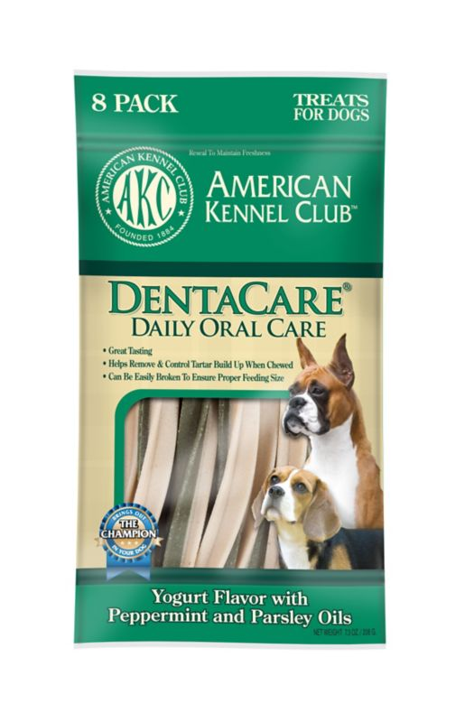 AKC DentaCare Yogurt Dog Treat Peanut Butter