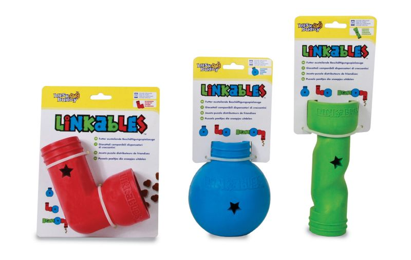 Busy Buddy Mini Linkables Puzzle Dog Toy ELbow