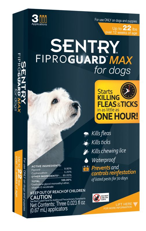 Fiproguard MAX for Dogs 3 Month Supply Up to 22lbs