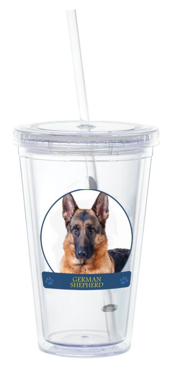 LittleGifts Plastic Drinking Cup German Shepherd