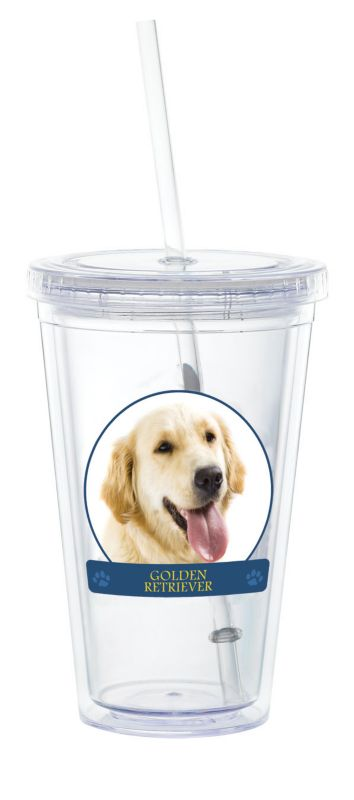 LittleGifts Plastic Drinking Cup Golden Retriever