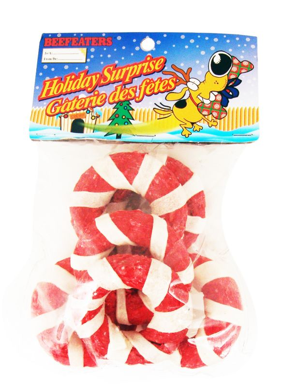Holiday Rawhide Munchy Wreaths Dog Treat