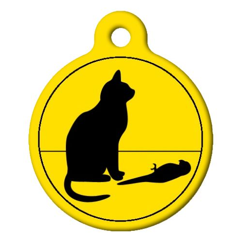 Bad Cat Poor Bird Cat ID Tag