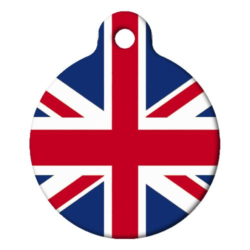 British Flag Pet ID Tag Small