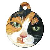 Calico Kitty Cat ID Tag