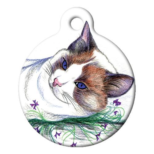 Cat Color Sketch Cat ID Tag