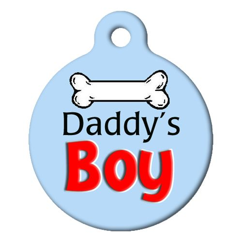 Daddys Boy Pet ID Tag Small
