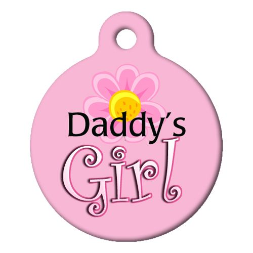 Daddys Girl Pet ID Tag Small