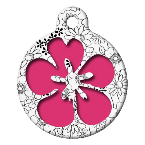 Flower Power Pet ID Tag Large