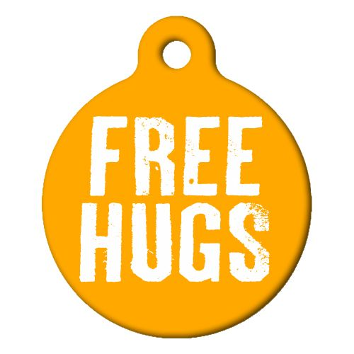 Free Hugs Pet ID Tag Large
