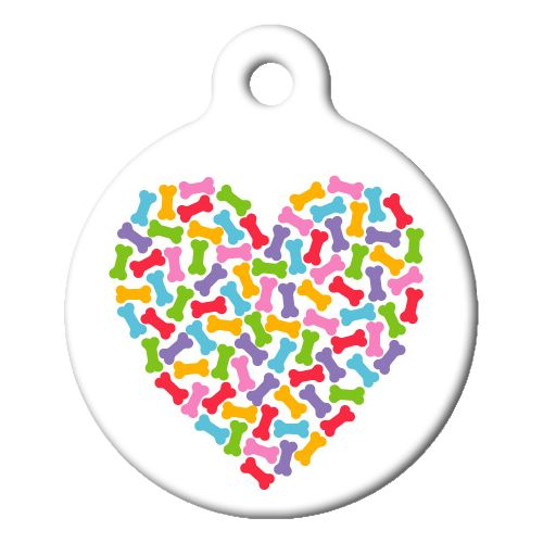 Heart of Bones Pet ID Tag Large
