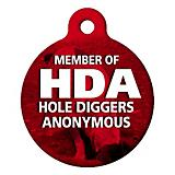 Hole Digger Pet ID Tag