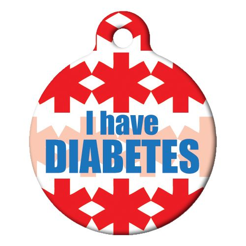 I Have Diabetes Pet ID Tag Large