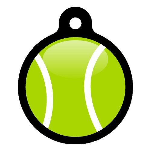 My Tennis Ball Pet ID Tag Small