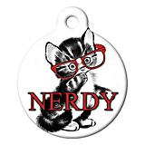 Nerdy Kitten Cat ID Tag