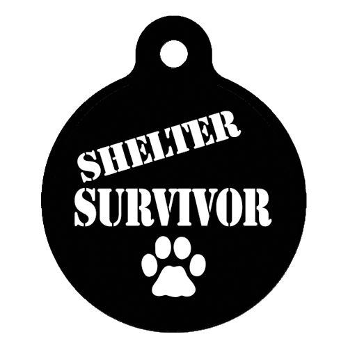 Shelter Survivor Pet ID Tag Large