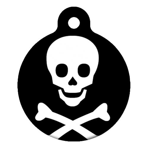 Skull and Bones Pet ID Tag Large