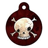 Skull and Crossbones Pet ID Tag