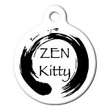 Zen Kitty Cat ID Tag