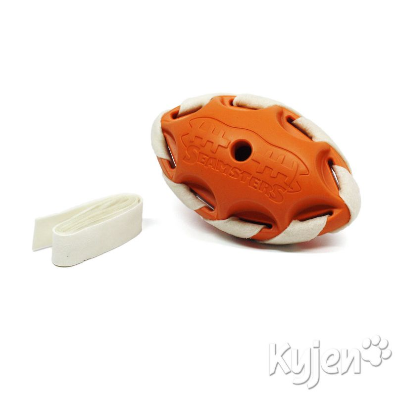 Kyjen Seamsters Small Football Dog Chew Toy