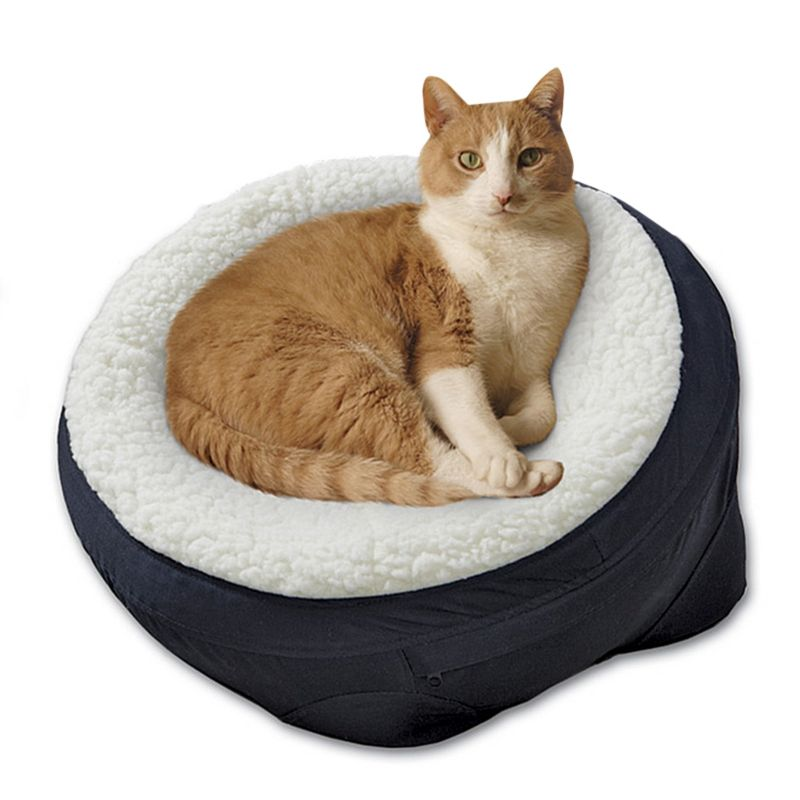Midwest Round Dish Pet Bed Burgundy