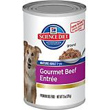 Science Diet Gourmet Beef Mature Can Dog Food 12Pk