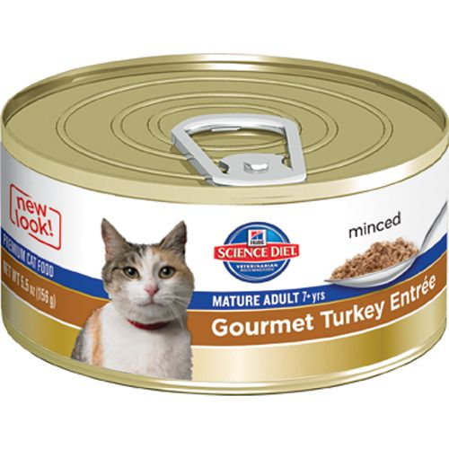 Science Diet Gourmet Turkey Mature Cat Food 3oz
