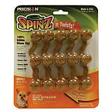 SPINZ Edible Peanut Butter Dog Chew Toy
