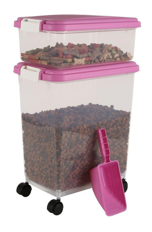 Iris Airtight Food Storage and Scoop Combos Pink